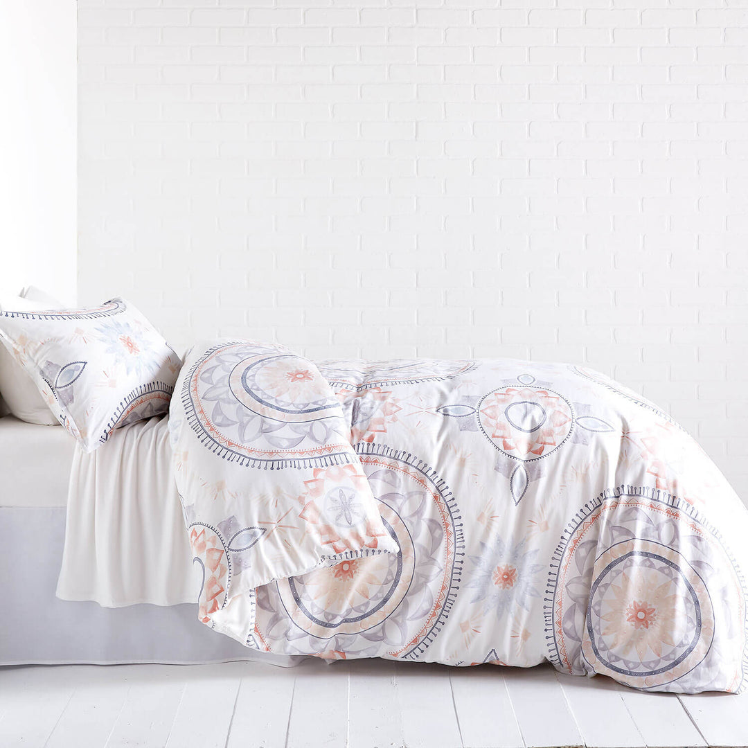 duvet large bedding of magical bow medallion set tied thinking plum size cover and tie