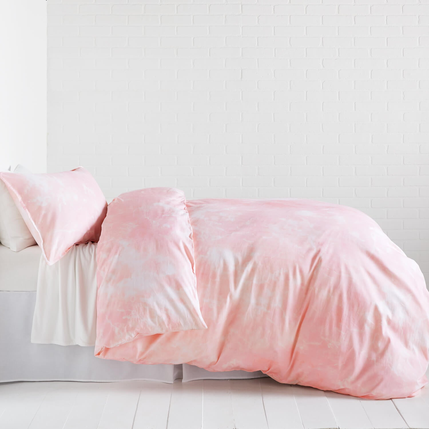 pink marble duvet cover and sham set