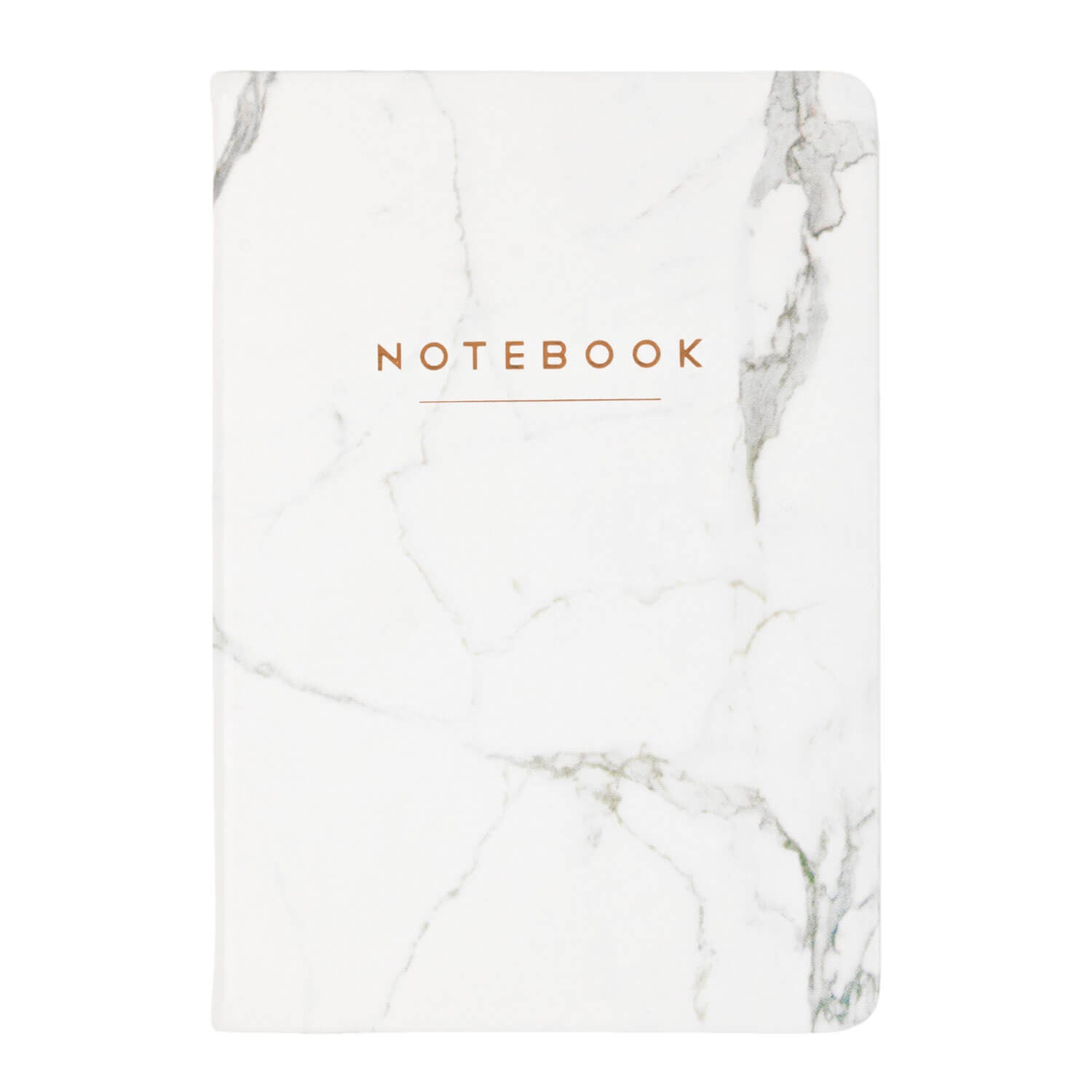 White Marble Notebook 6x8
