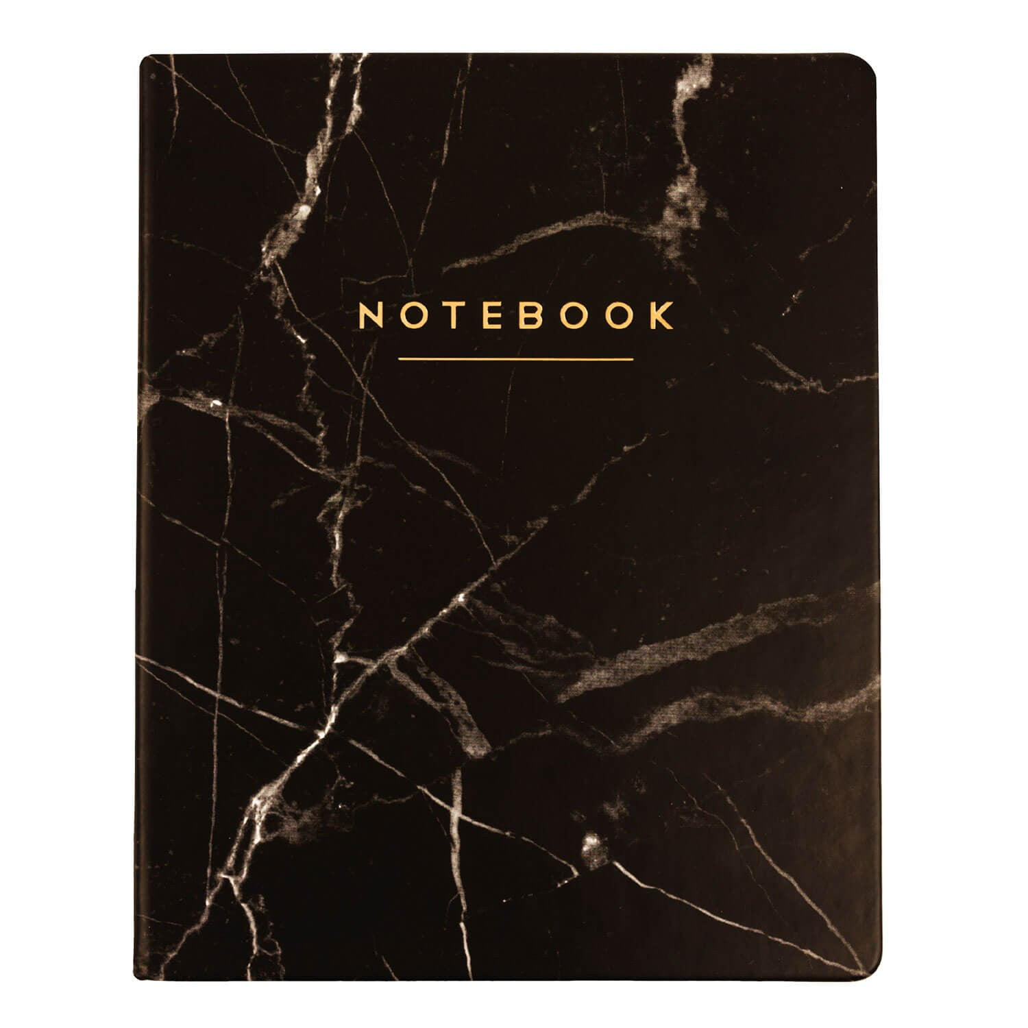 Black Marble Notebook 8x10