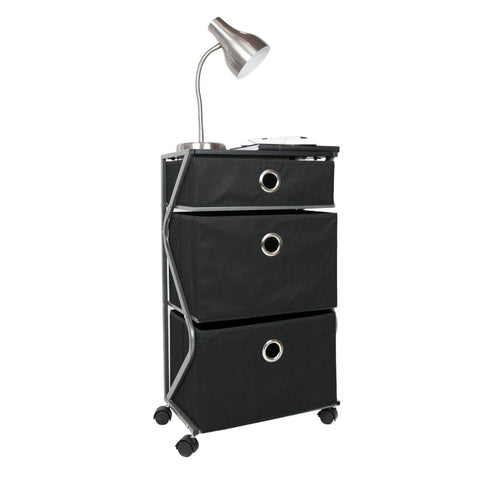 "17"" Wide 3 Drawer Rolling Cart"