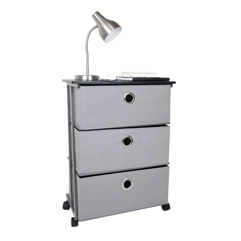 "23"" Wide 3 Drawer Rolling Cart"