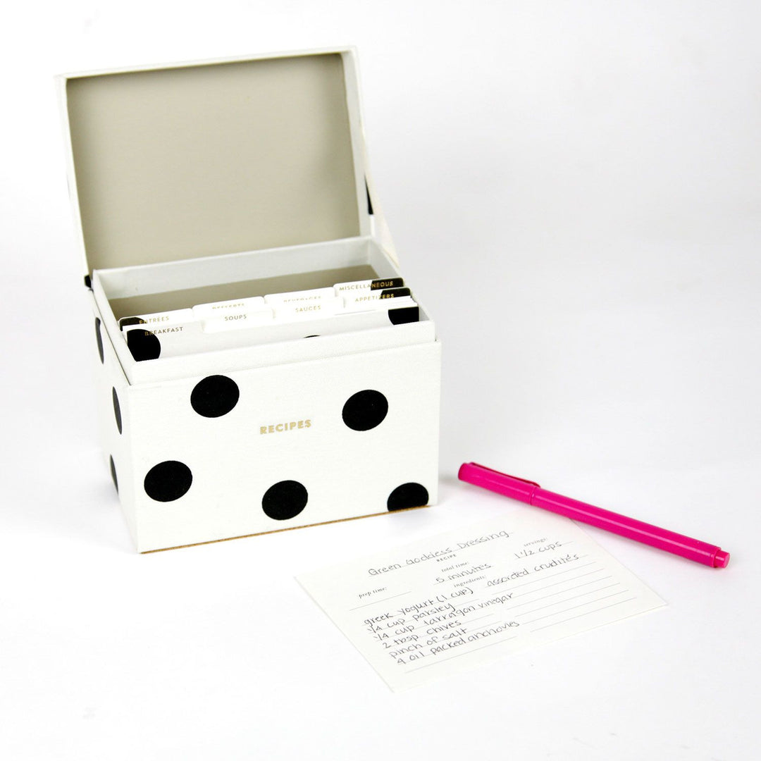 Kate spade recipe box deco dot dormify thecheapjerseys Image collections