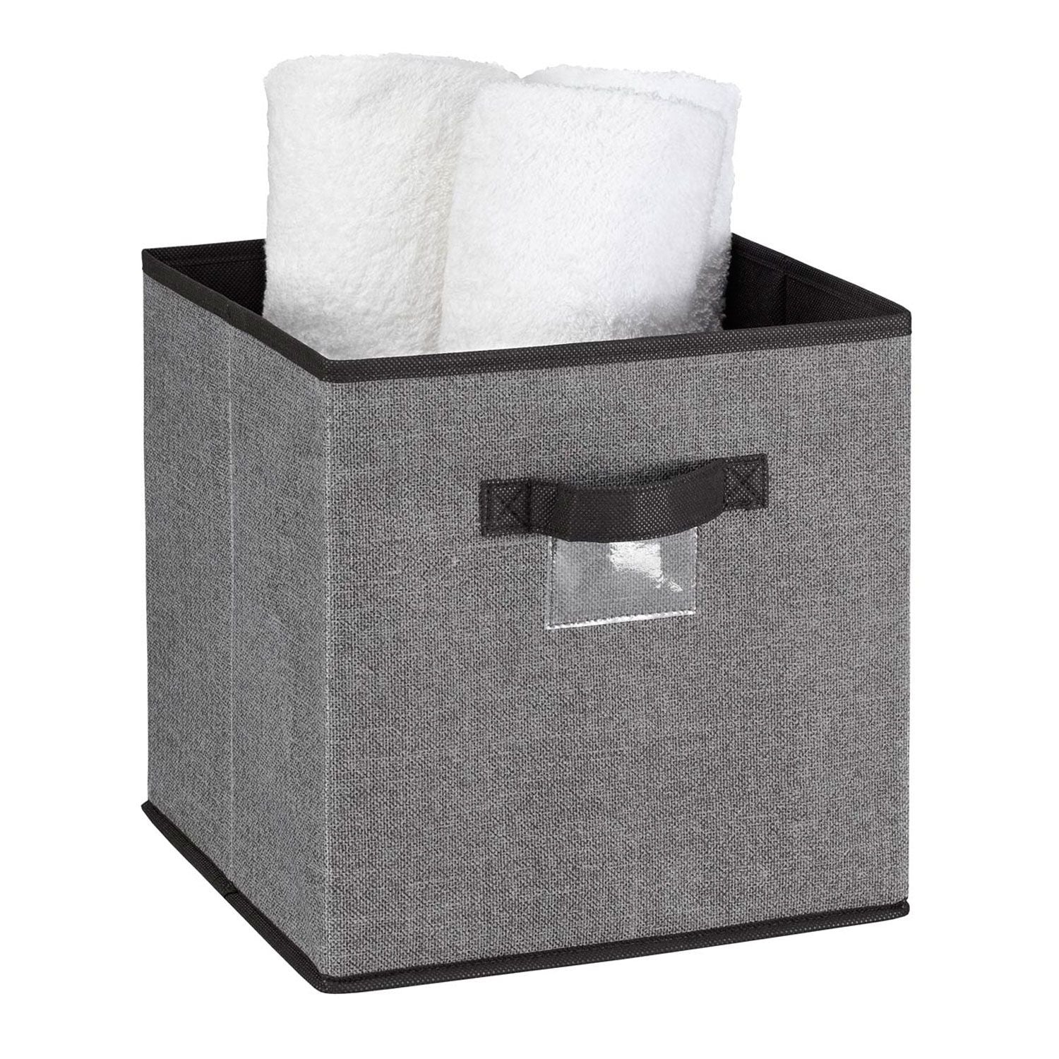 Storage Box - Cube - Grey