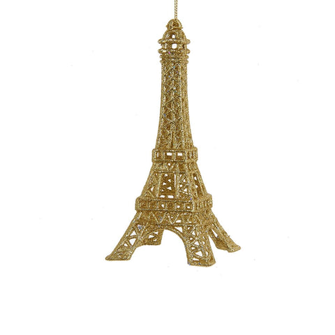 Gold Glitter Eiffel Tower Ornament