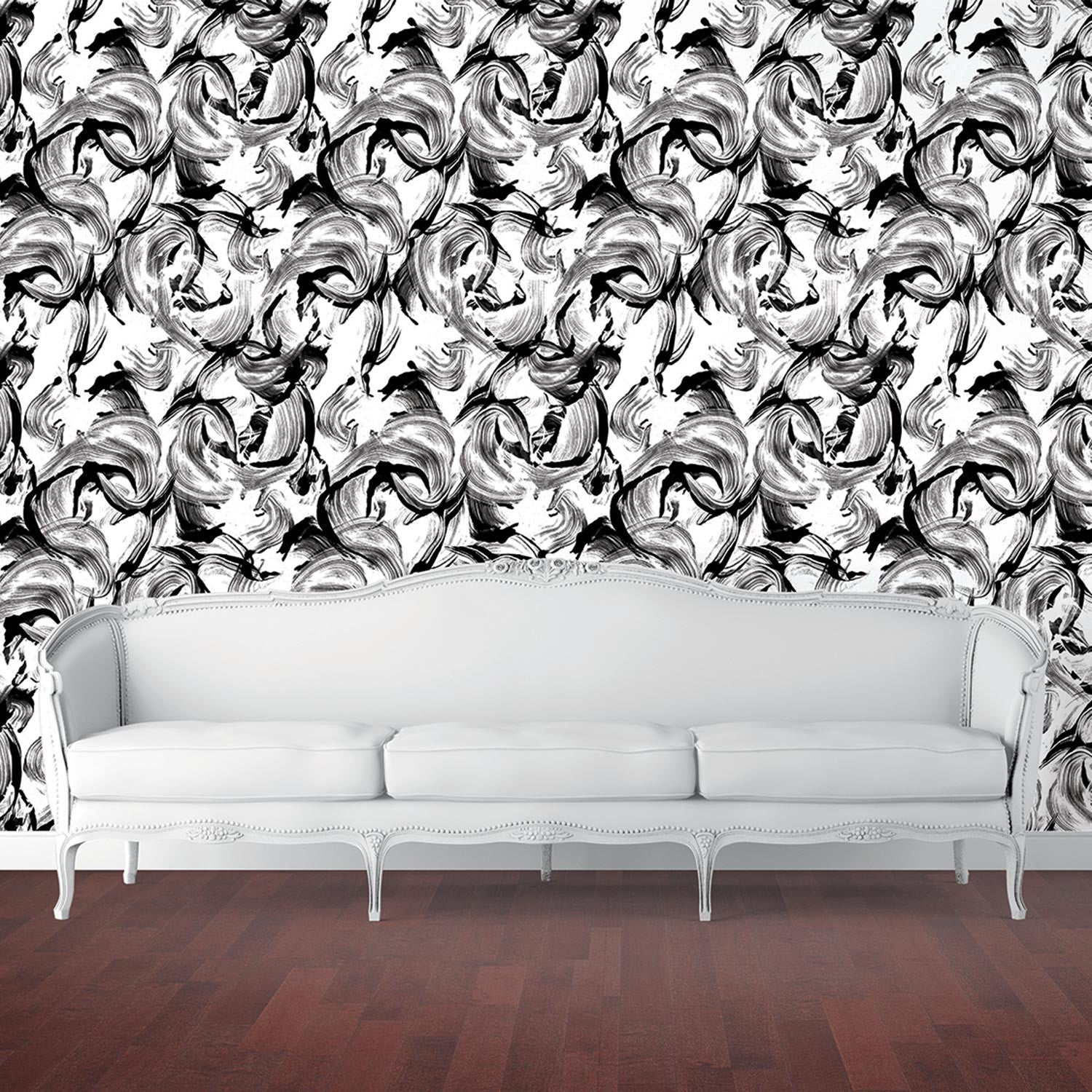 Temporary Wallpaper - L'amour - White and Black