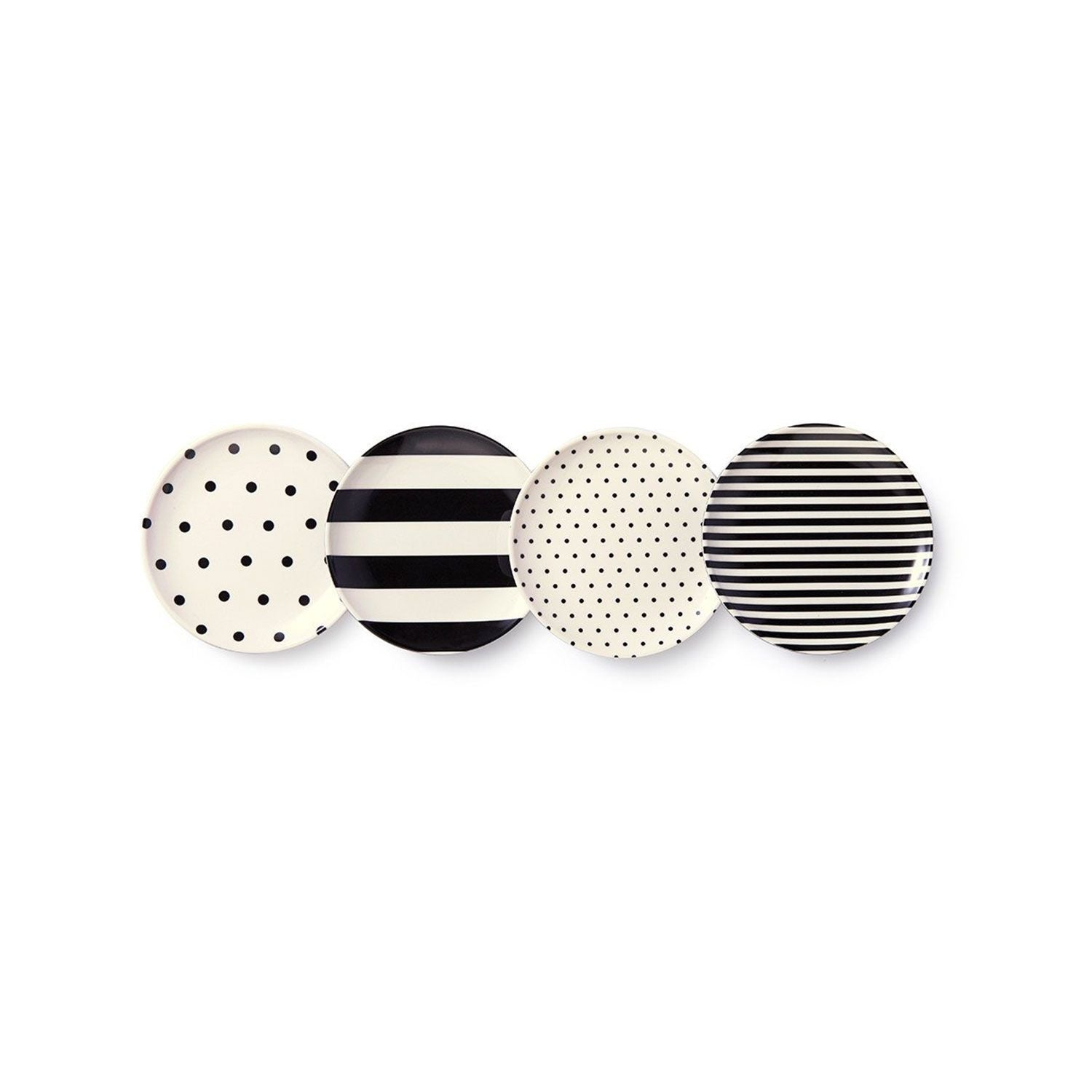 Kate Spade Black & White Coasters - Set of 4