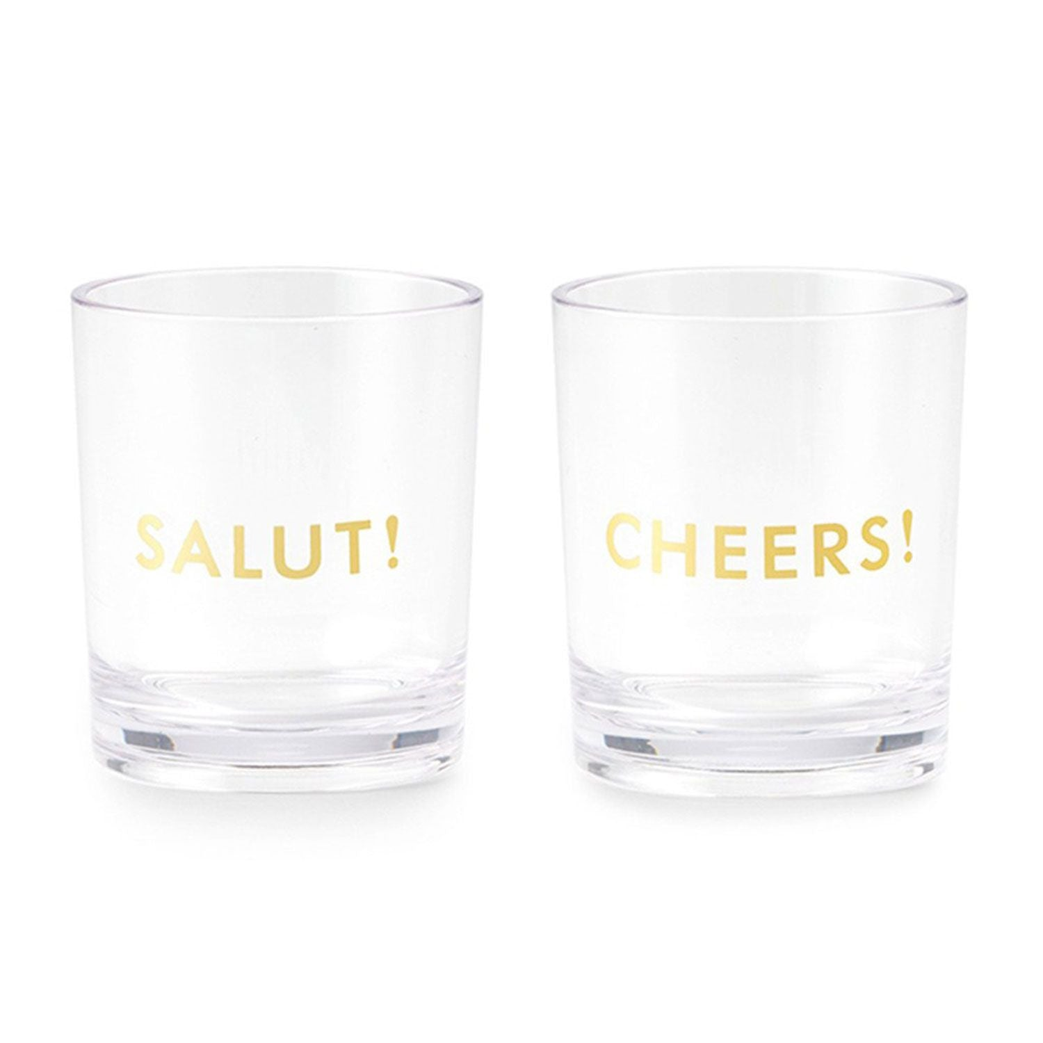 "Kate Spade ""Cheers/Salut"" Acrylic Glasses - Set of 2"
