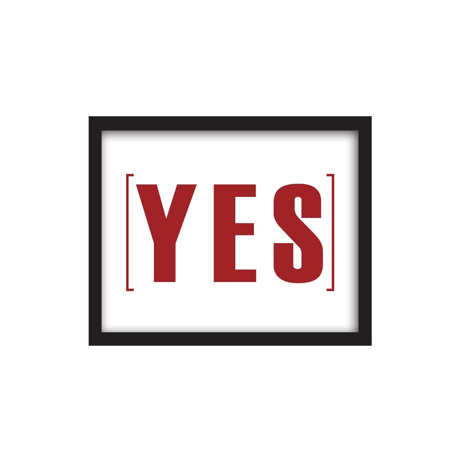 Framed Words – YES - Medium