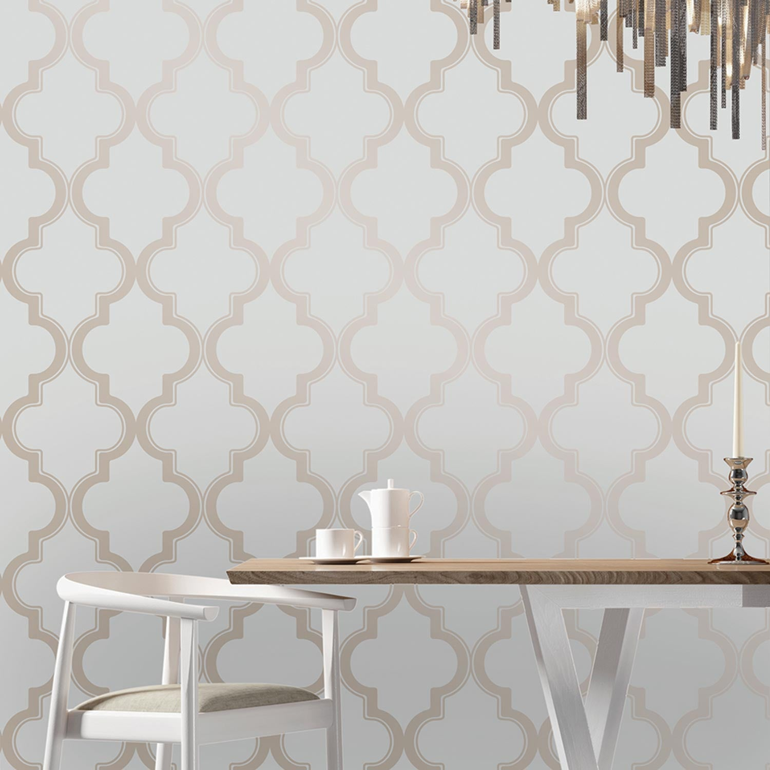 Temporary Wallpaper - Marrakesh - Bronze Gray