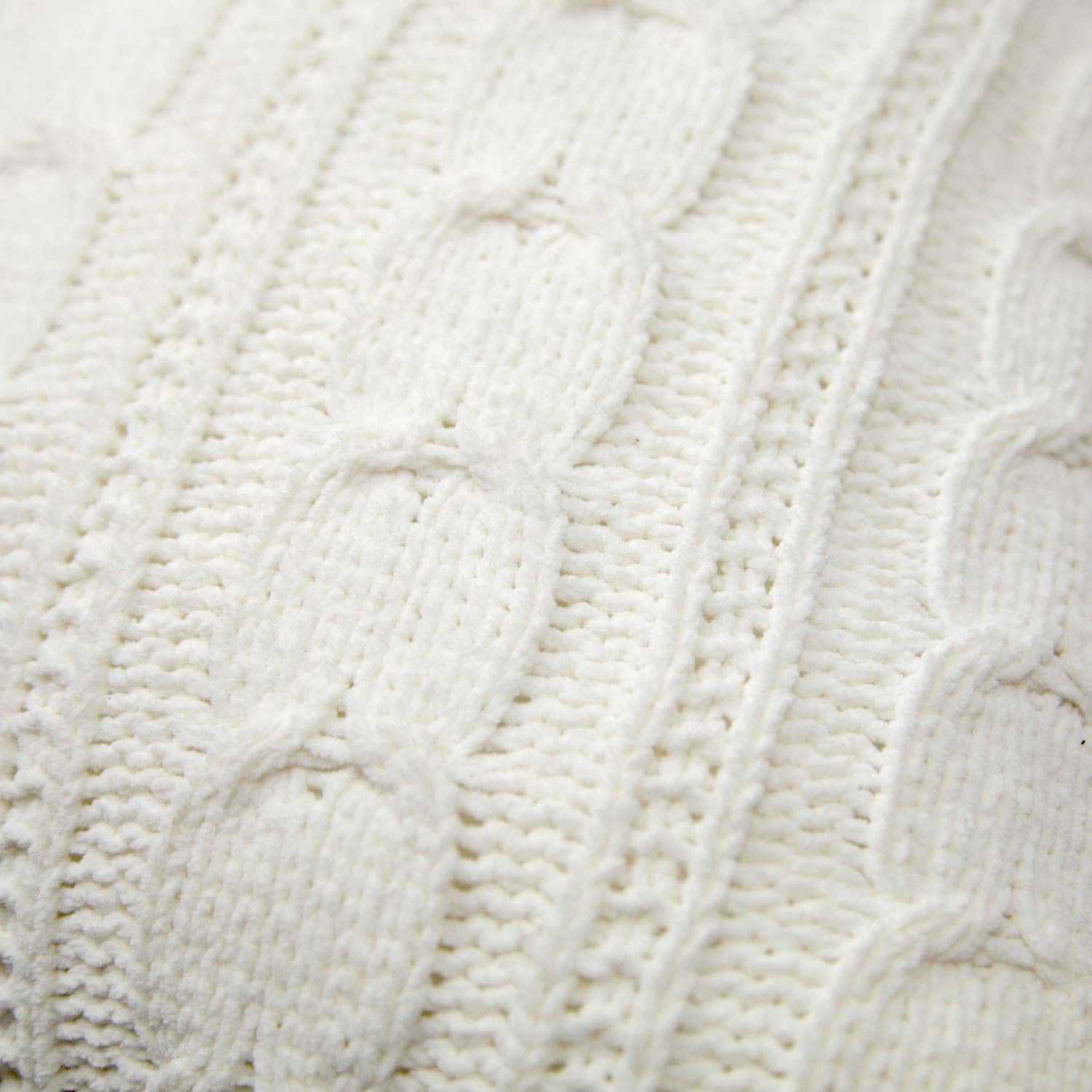 Soft Cable Knit Pillow - Ivory