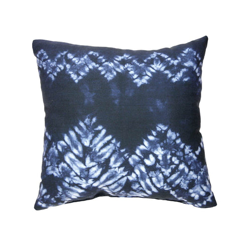 Navy Tie Dye Pillow