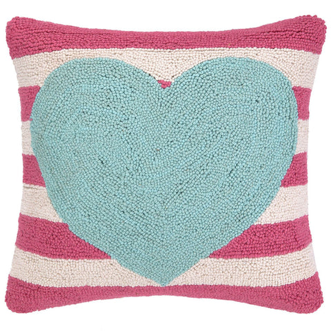 Stripe Heart Pillow