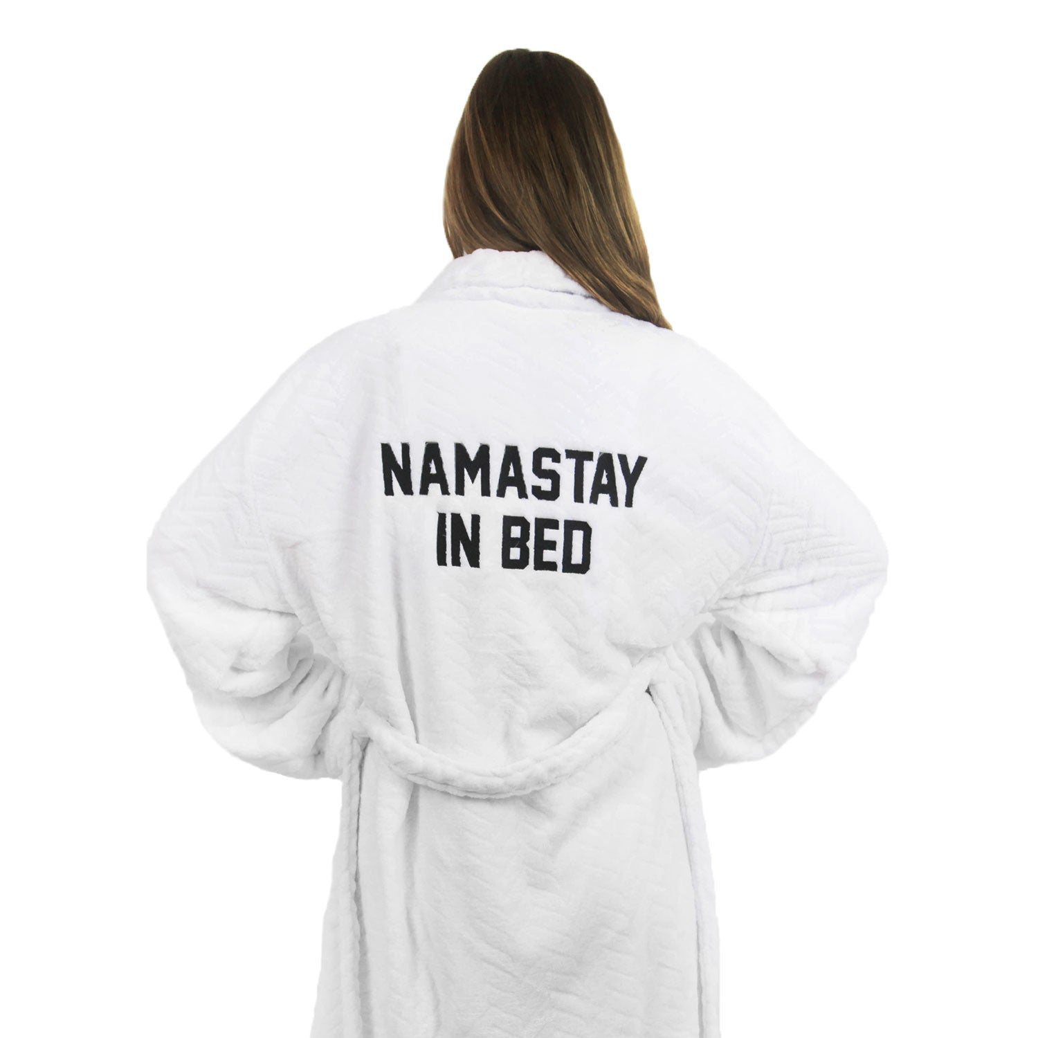 Dormify x Private Party Namastay In Bed Plush Embroidered Robe