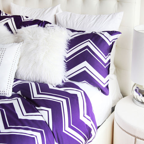 Striped Chevron Duvet Cover and Sham Set