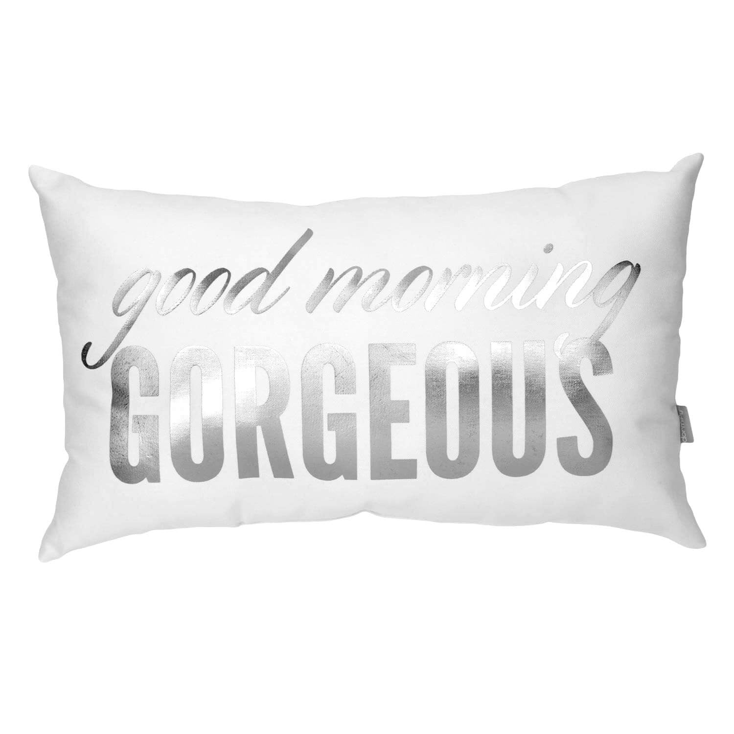 Good Morning Gorgeous Pillow - Gold