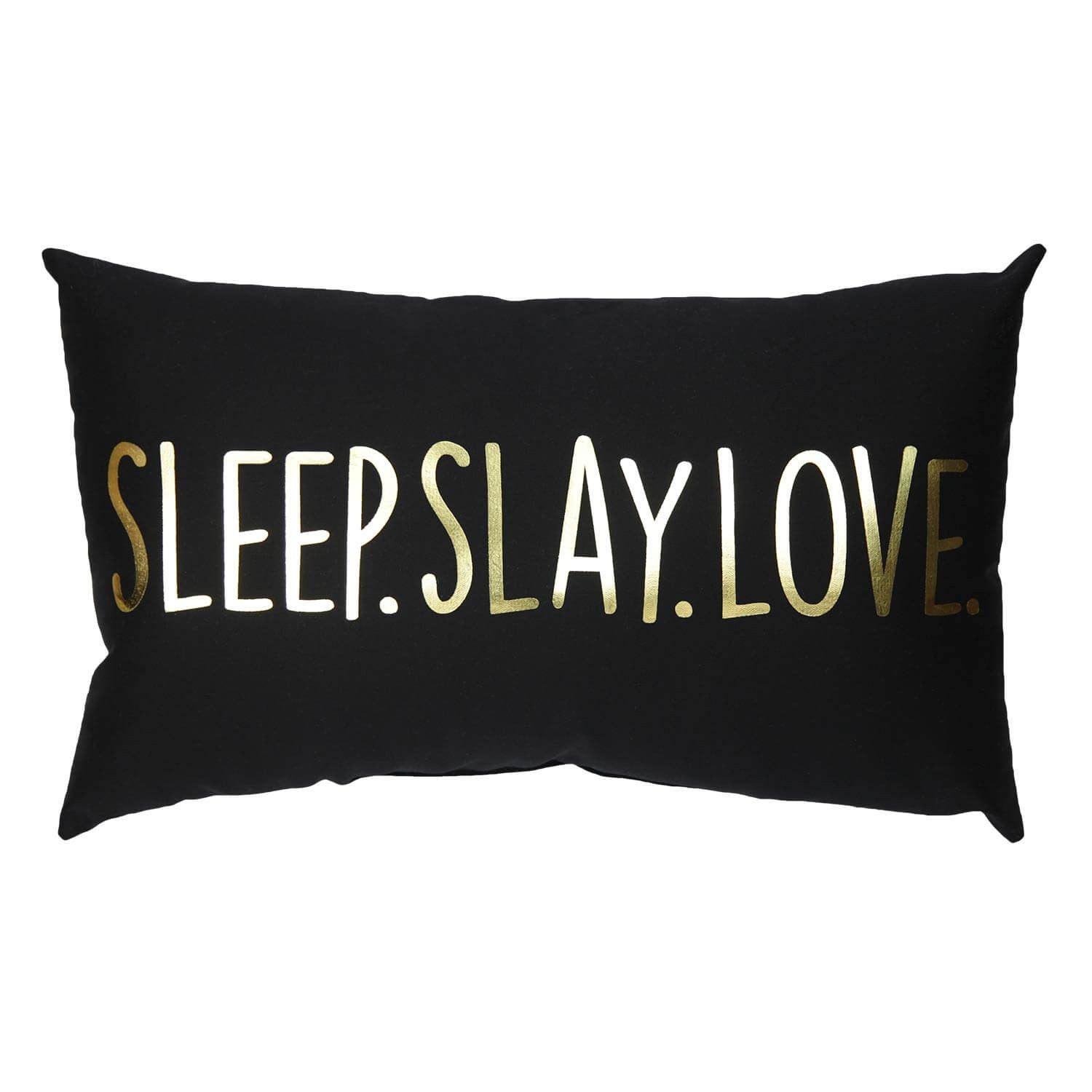 Gold Sleep Slay Love Pillow