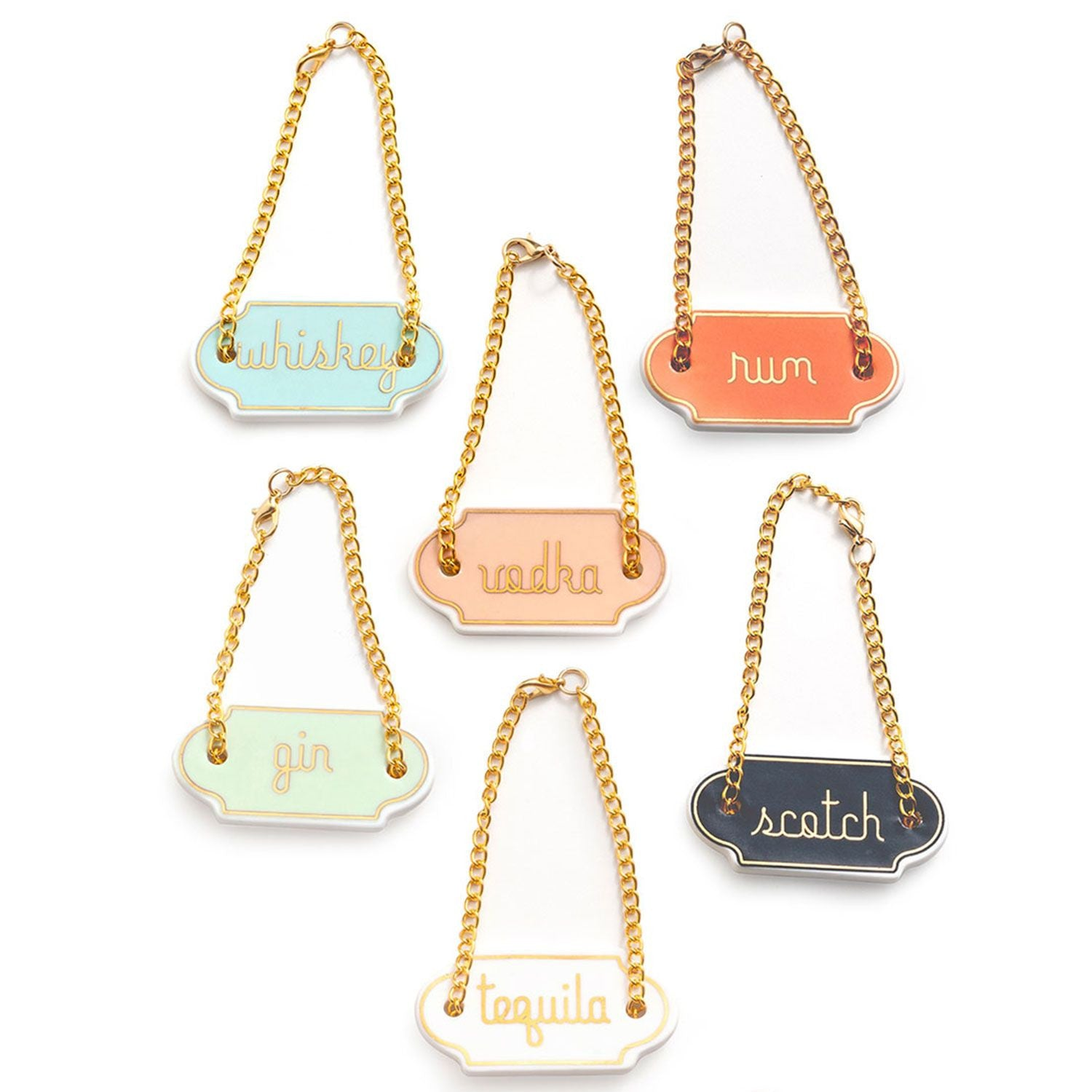 Chez Elle Decanter Tags - Set of 6
