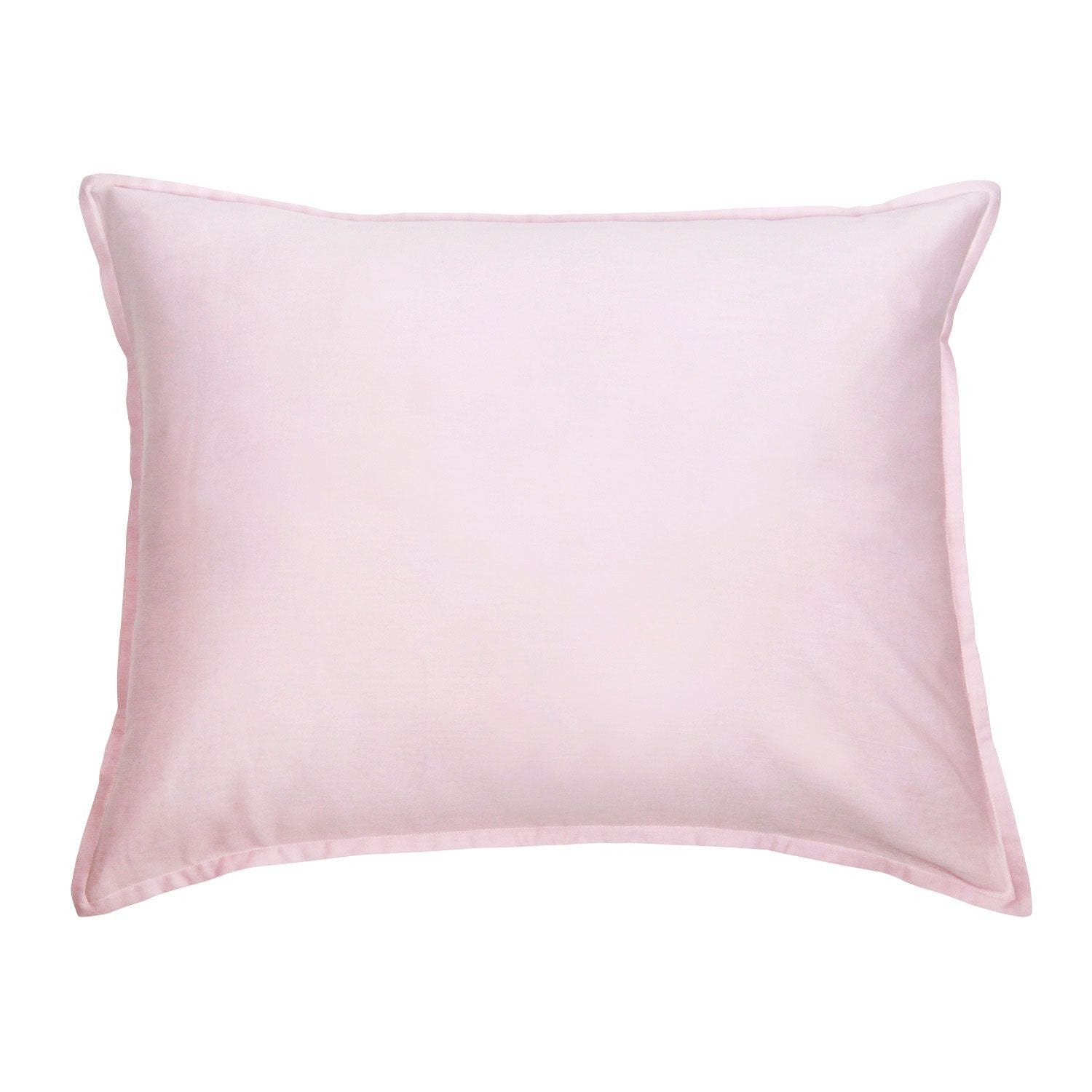 Pink and White Reversible Standard Sham