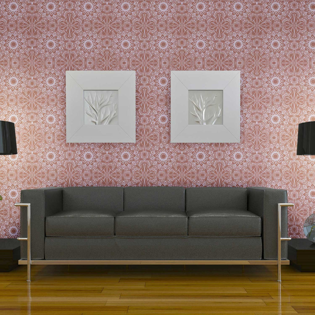 Temporary wallpaper medallion berry dormify for Temporary wallpaper