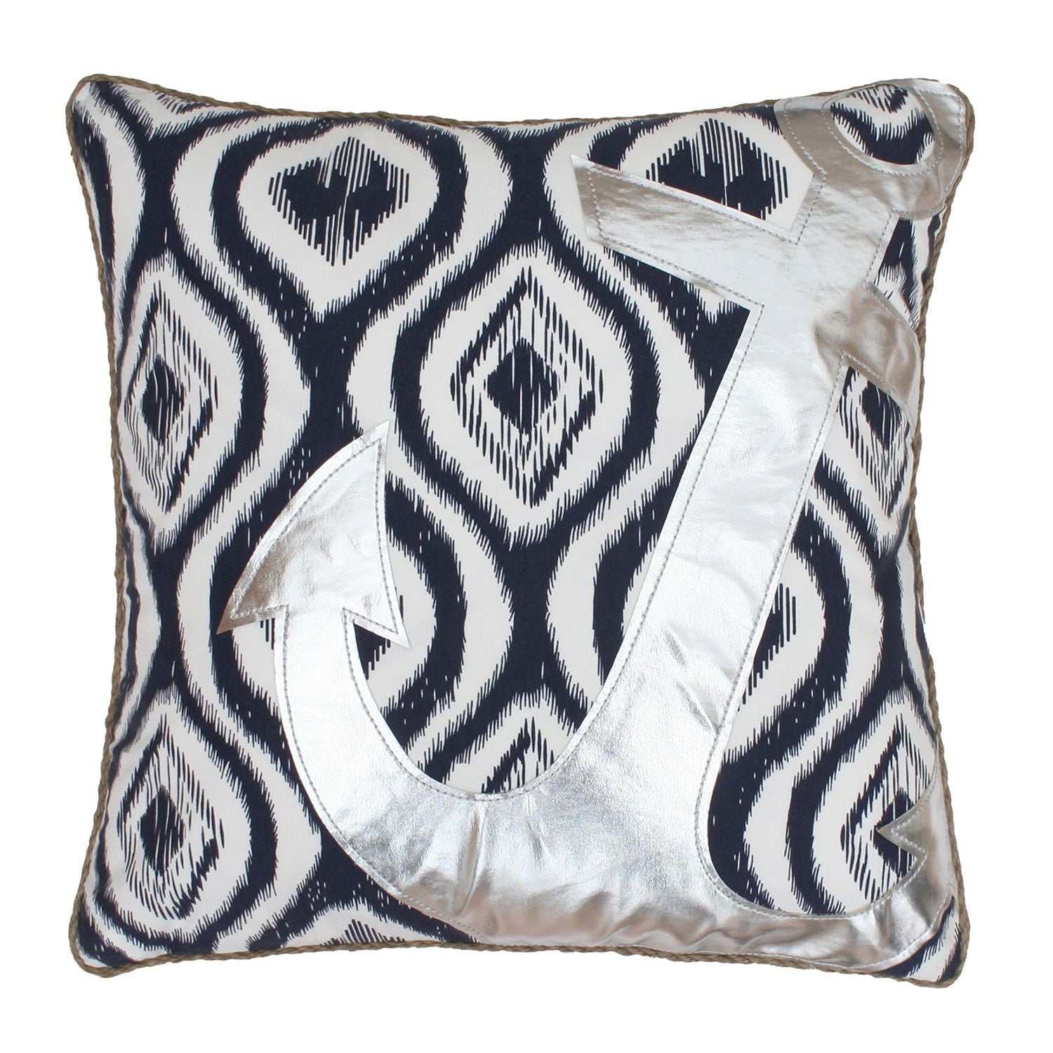 Ali Anchor Applique Pillow