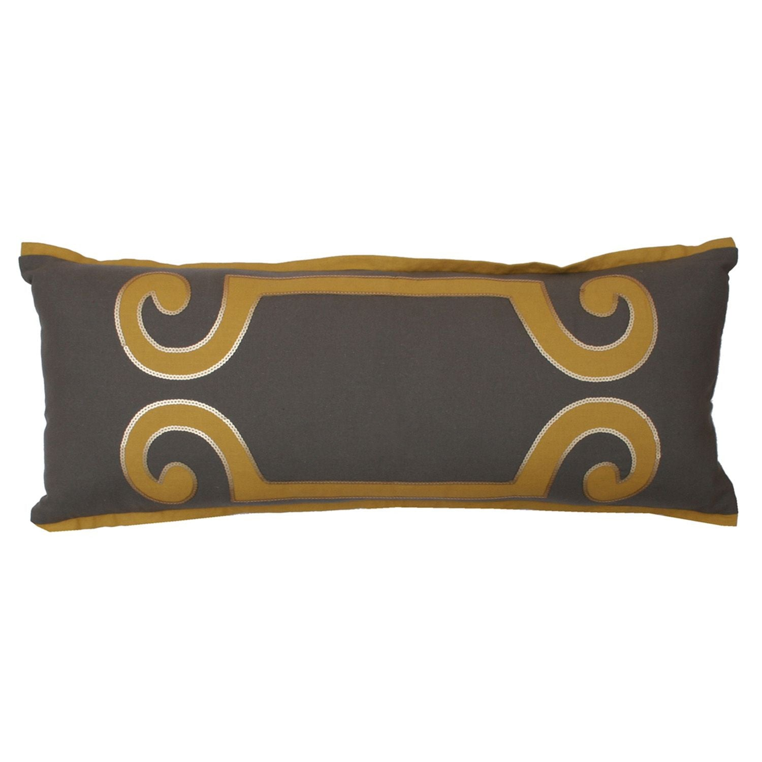 Harlow Scroll Pillow - Frost Grey