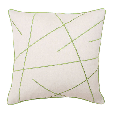 Morgan Criss Cross Embroidered Pillow
