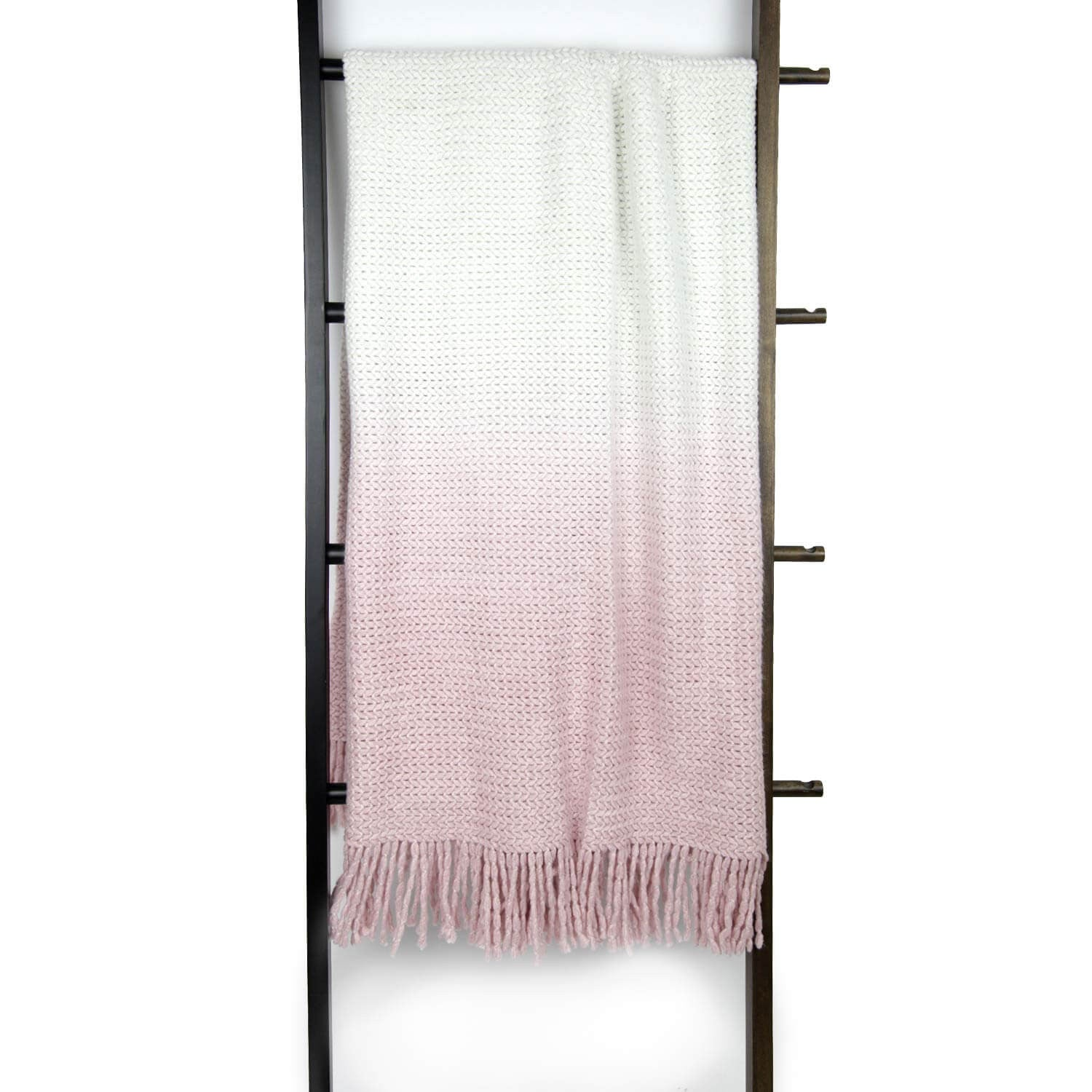 Ombre Knit Throw - Light Pink