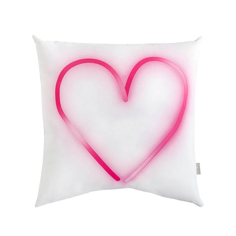 Neon Pink Heart Pillow