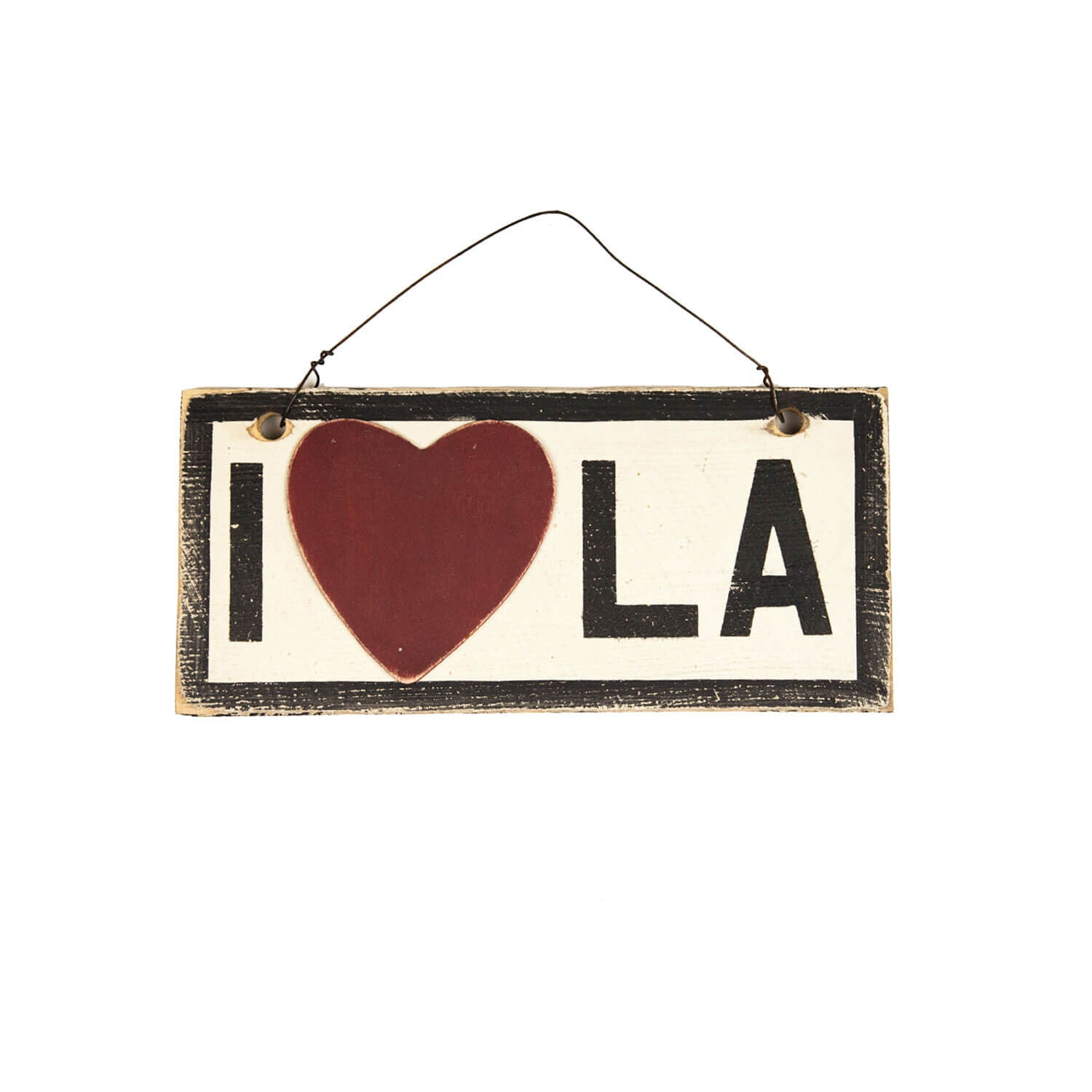 I Heart LA Wooden Sign