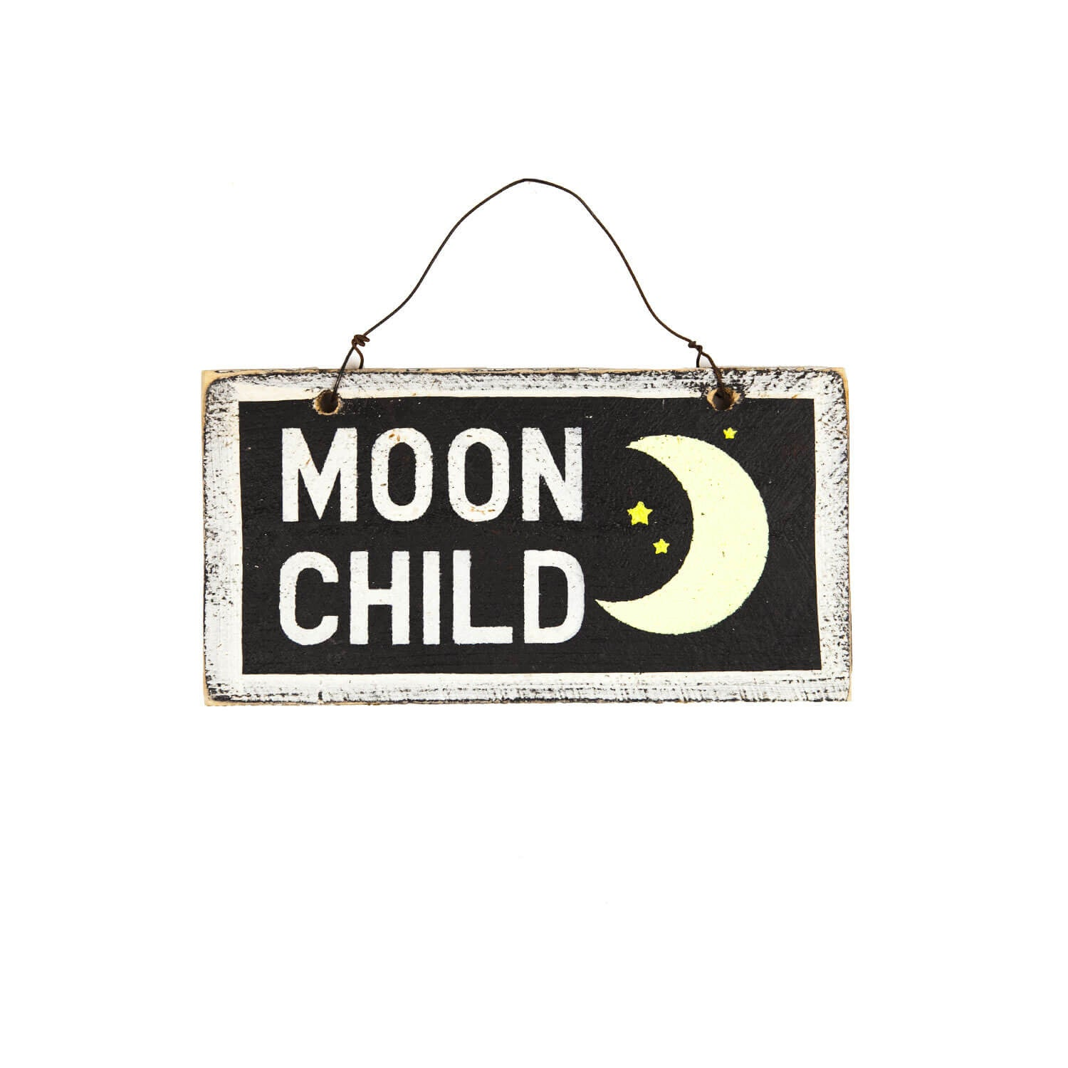 Moon Child Wooden Sign