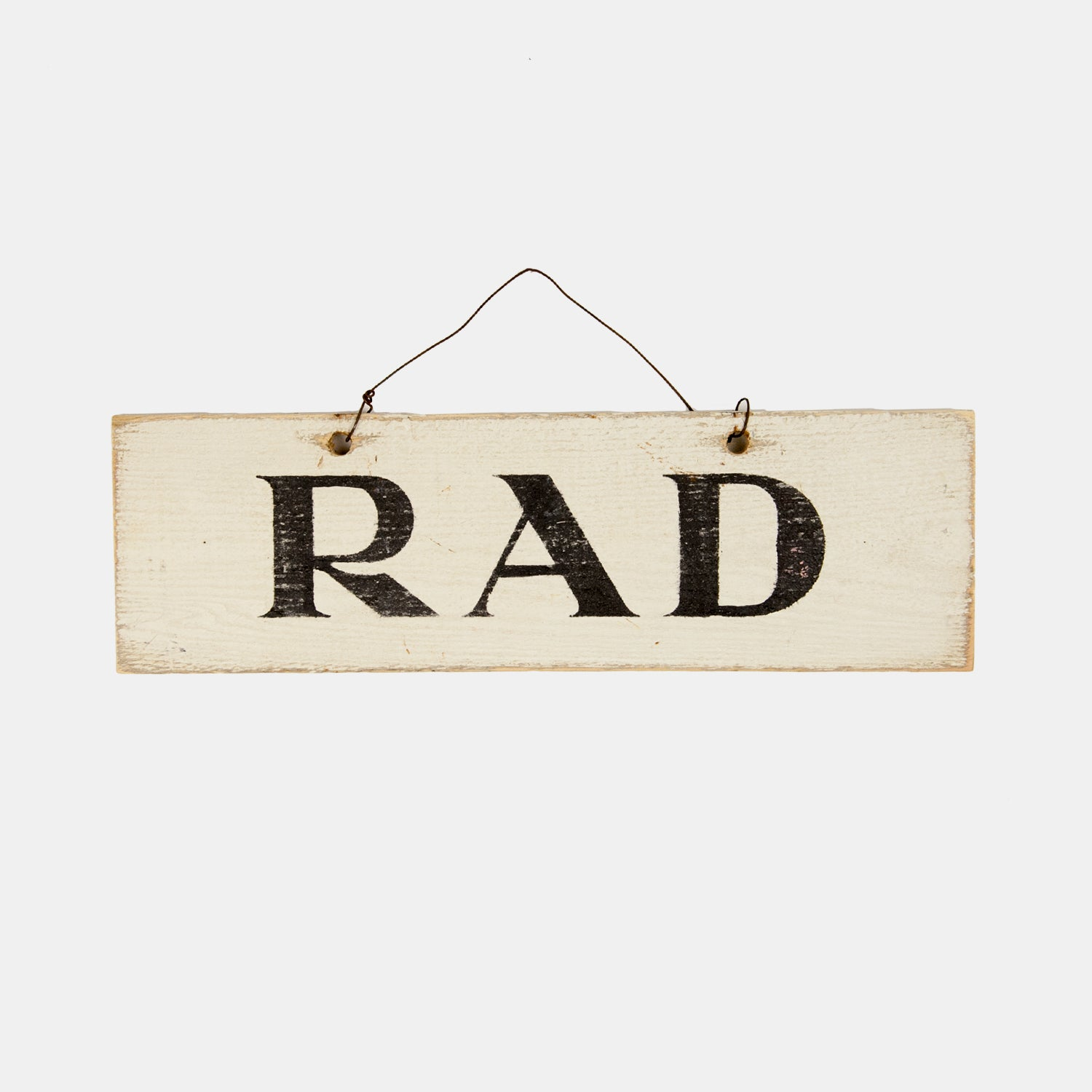 rad wooden sign | wall