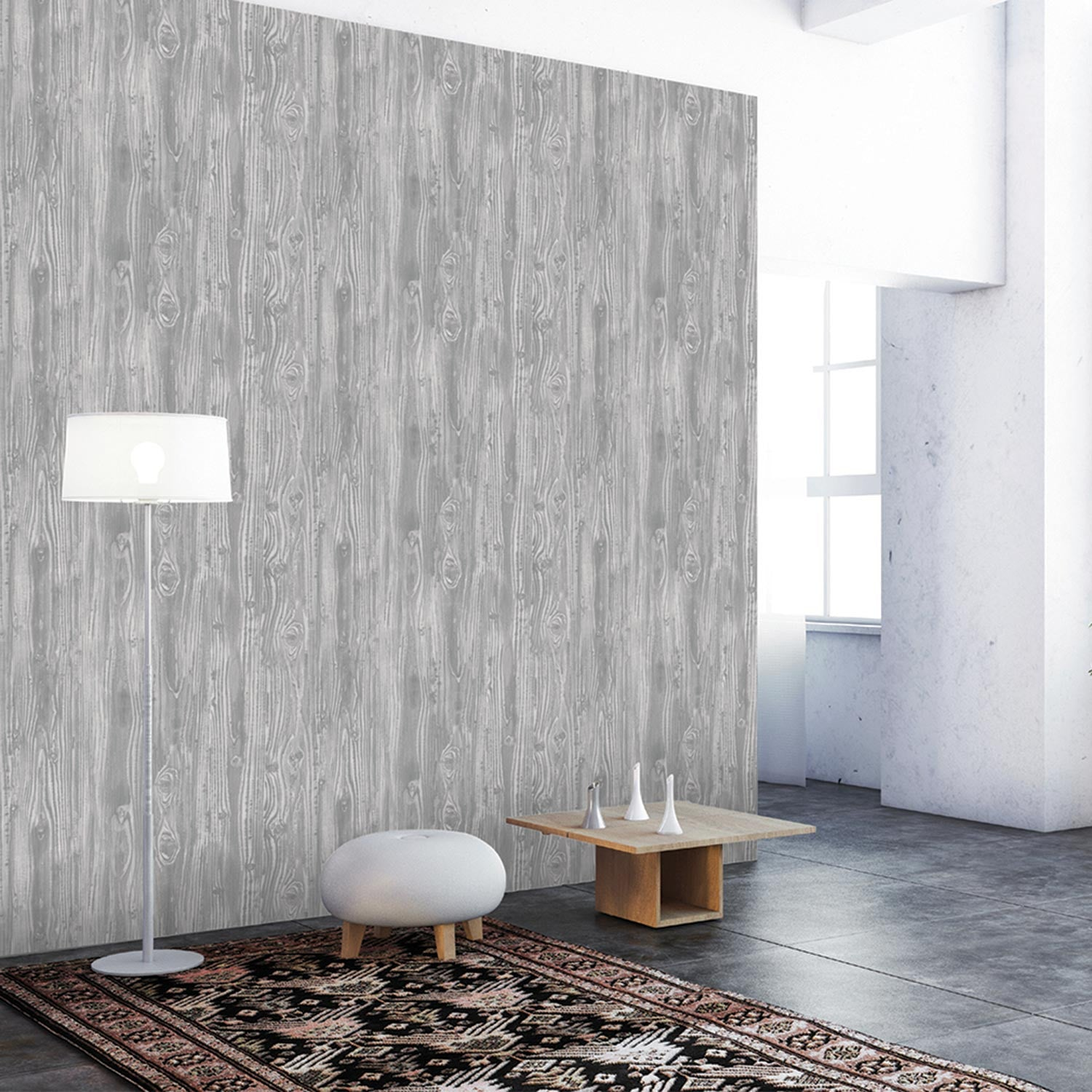 Temporary Wall Paper temporary wallpaper - woodgrain - pewter– dormify