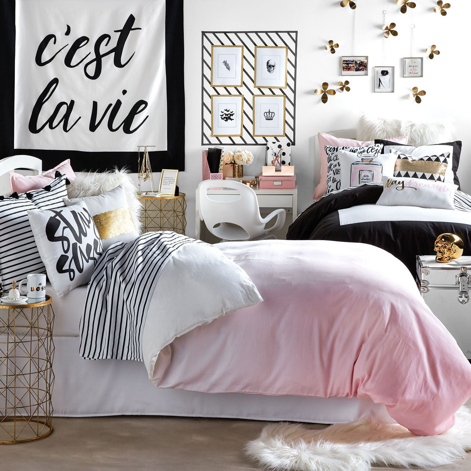 Pink Ombre Duvet Cover and Sham Set - Full/Queen