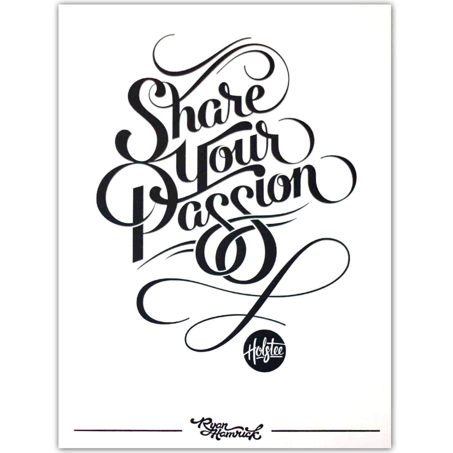 Share Your Passion Print - 12x16