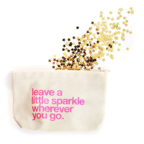 A Lil Sparkle Canvas Pouch