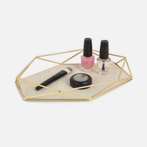 Prisma Jewelry Tray - Matte Brass