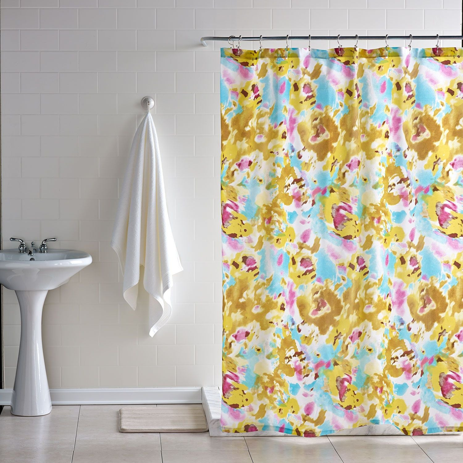 arden floral shower curtain– dormify - arden floral shower curtain