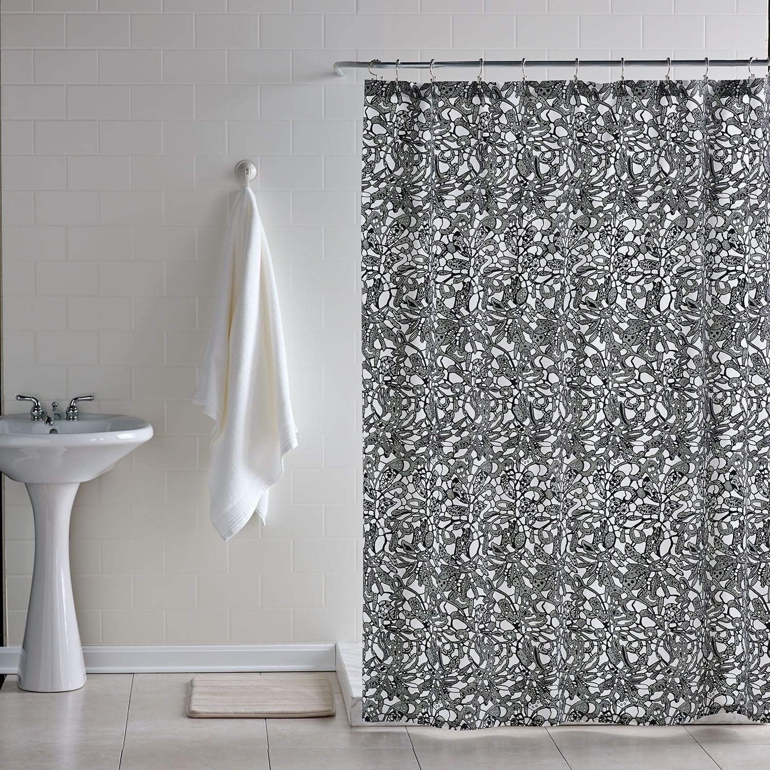 Downtown Lace Shower Curtain