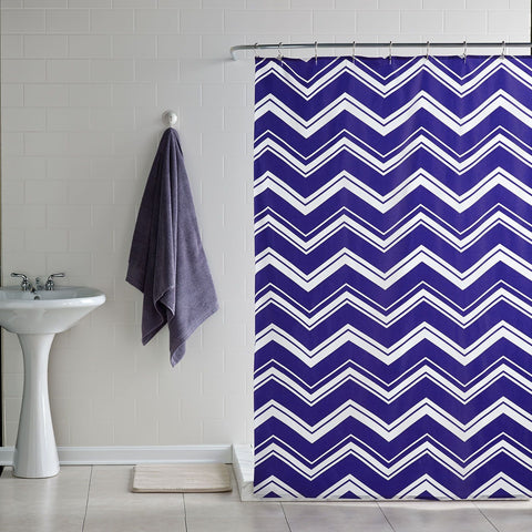 Chevron Stripe Shower Curtain