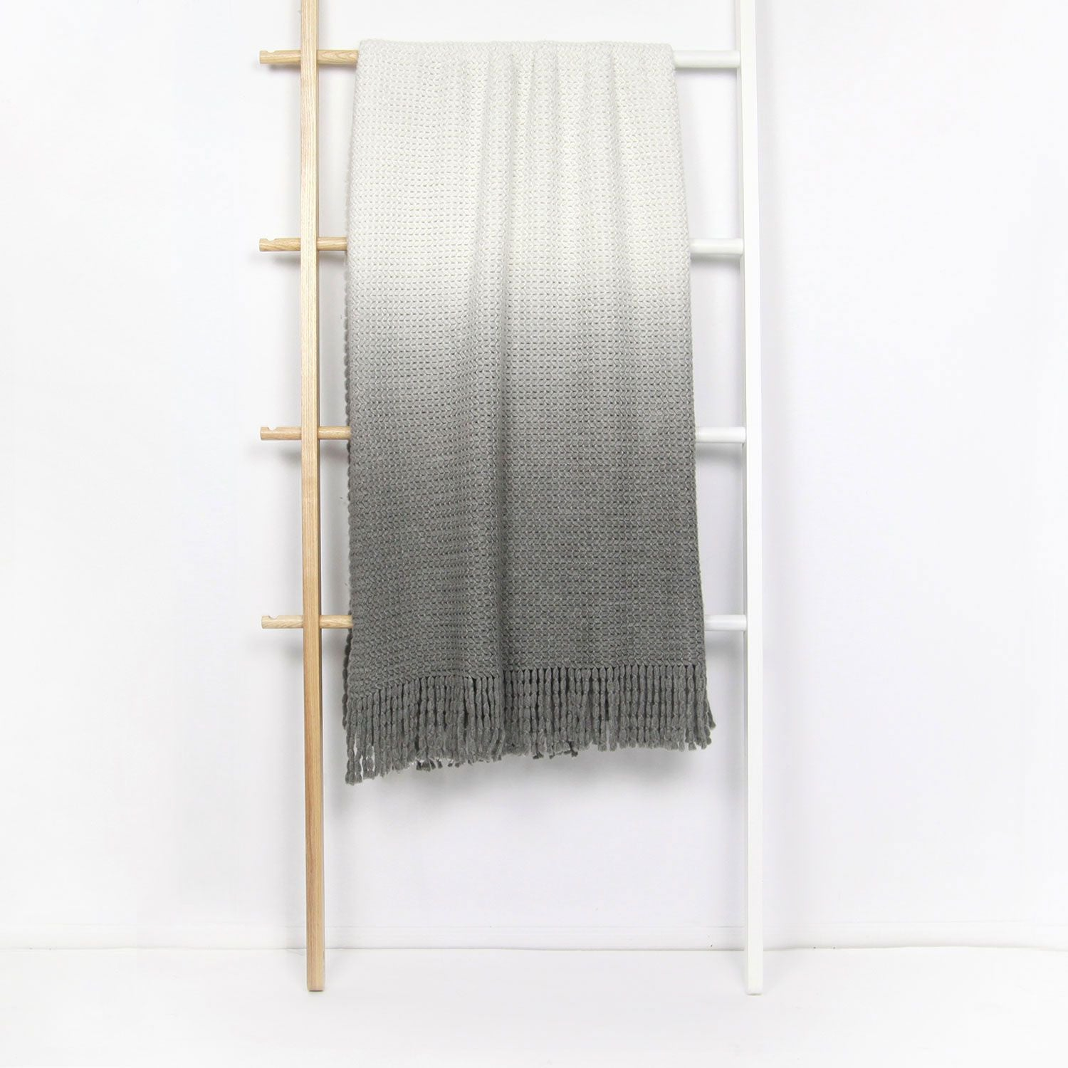 Ombre Knit Throw - Grey