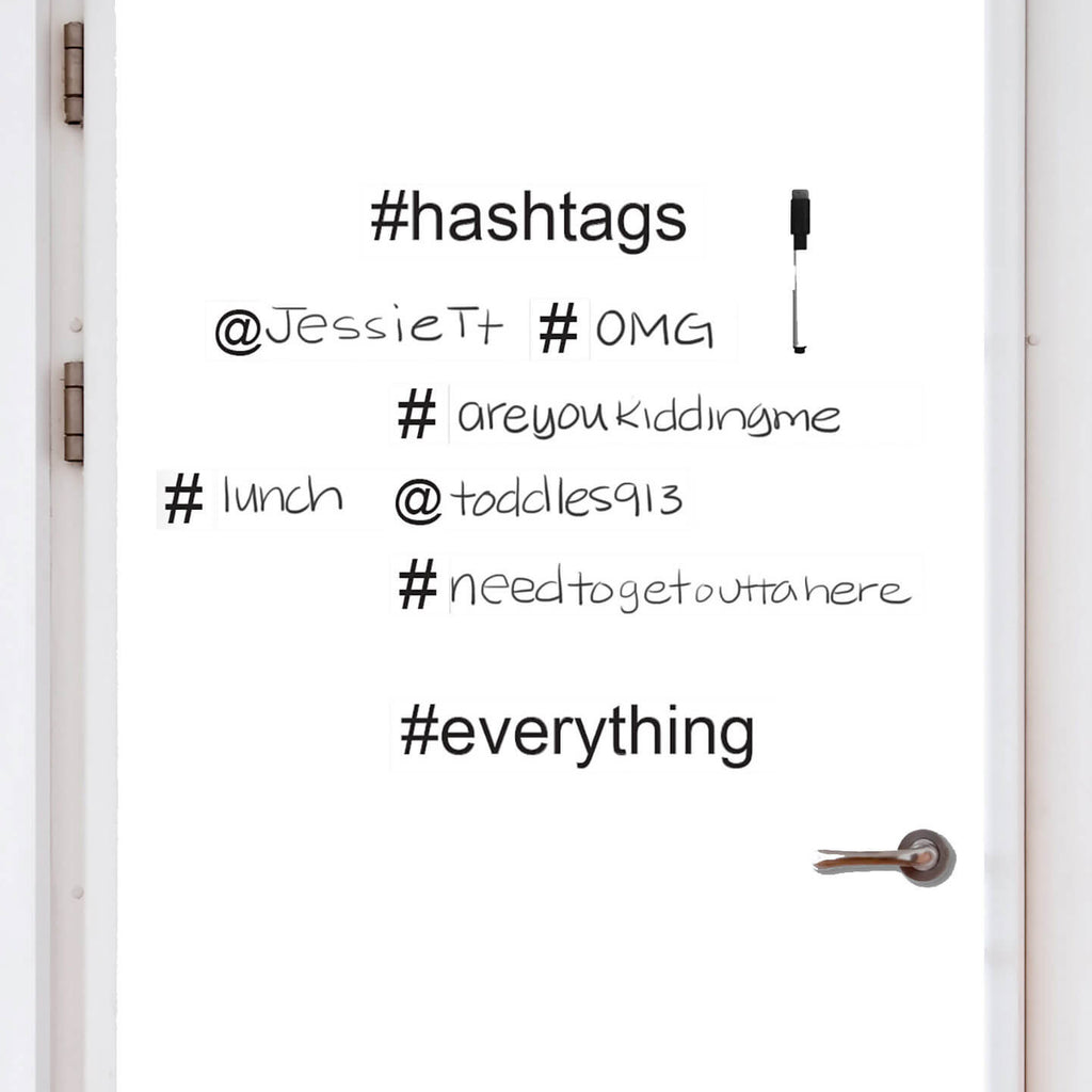 Dry erase board hashtag dormify for Bathroom decor hashtags