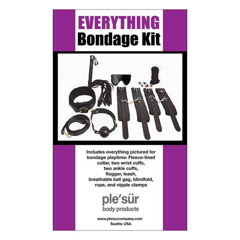 Plesur Everything Bondage Kit - Black Product Packaging