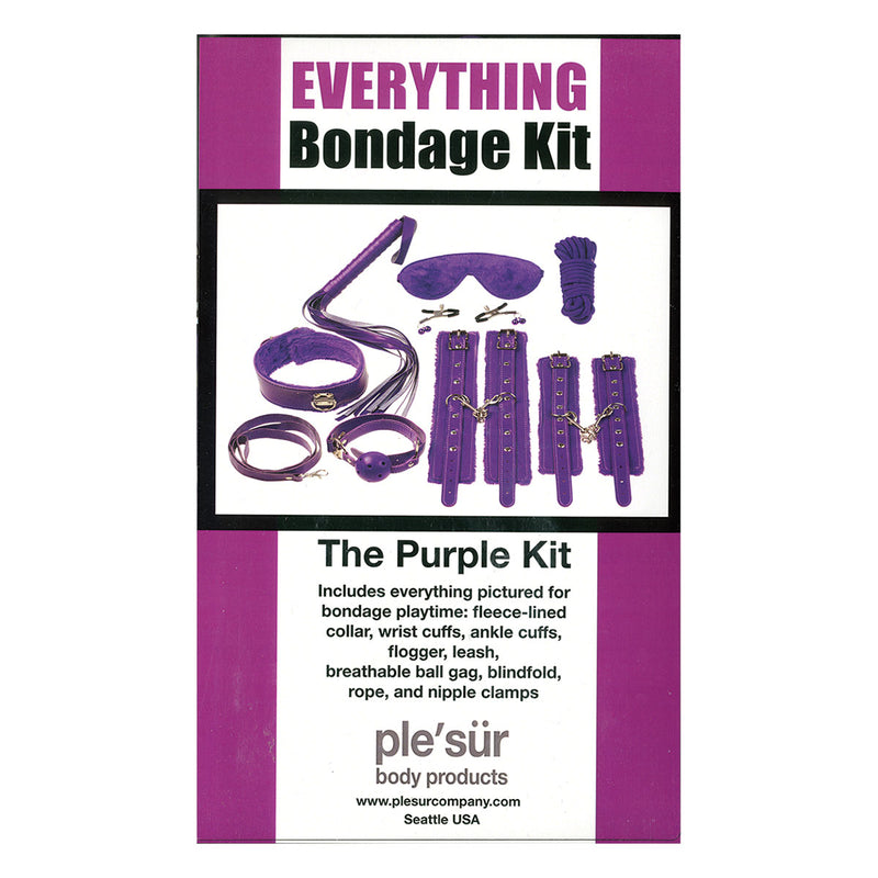 Plesur Everything Bondage Kit - Purple Product Packaging