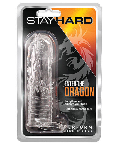 Blush Stay Hard Enter the Dragon Penis Sleeve - Clear