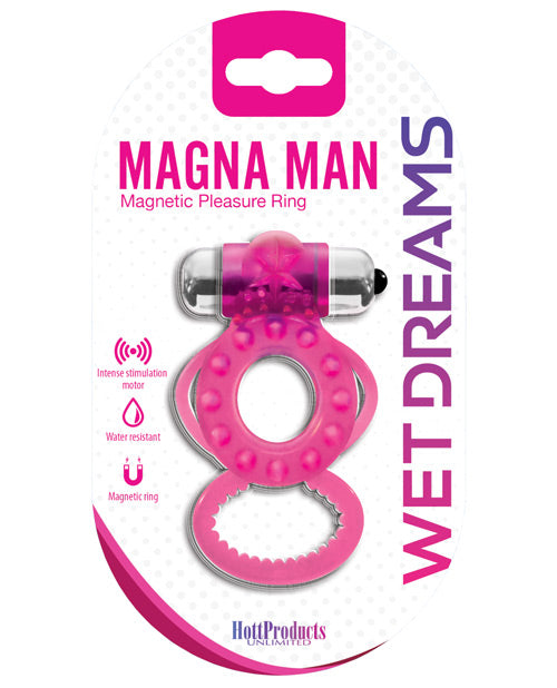 Magna-Man Magnetic Ring - Magenta