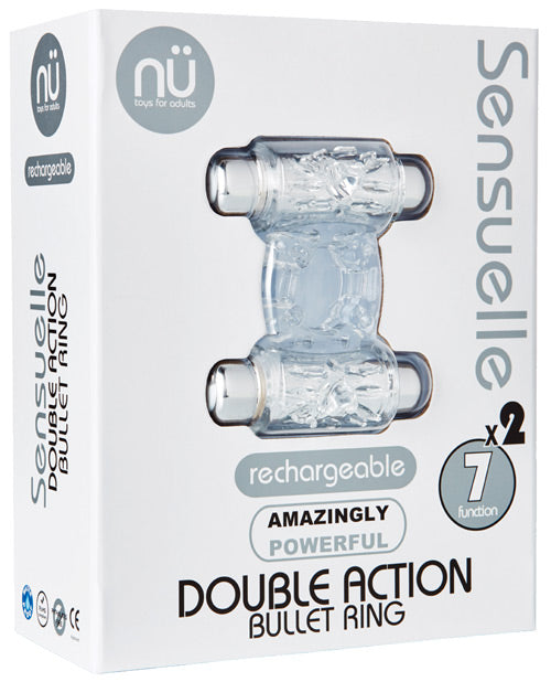 Sensuelle Double Action Cockring - 2x7 Function Clear