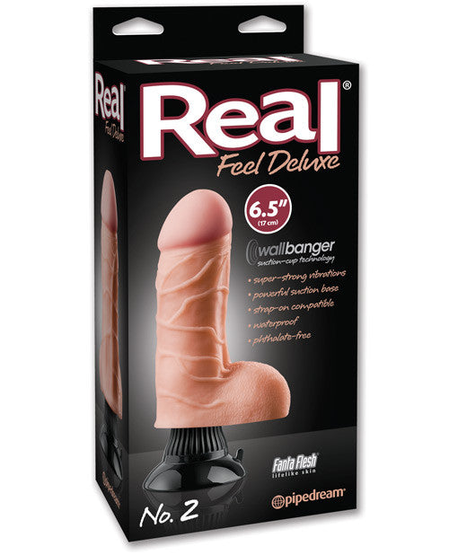 "Real Feel Deluxe No. 2 6.5"" Waterproof Vibe - Flesh"