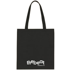 The Beat / Black Tote Bag