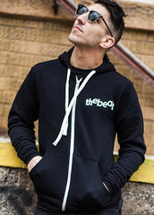 The Beat / Zip-up Black Hoodie